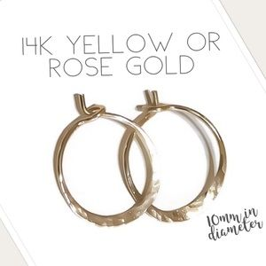Small Solid Gold Huggie Hoops